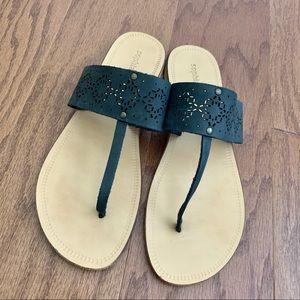 Sophia Milano Leather Italy Boho Thong Sandals